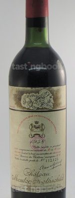 Red wine, Château Mouton-Rothschild 1958