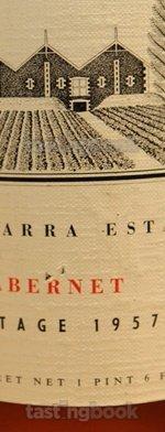 Red wine, Cabernet Sauvignon 1957