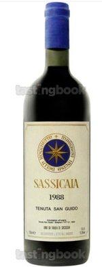 Red wine, Sassicaia 1988