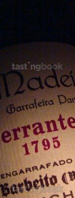 Fortified wine, Madeira Terrantez 1795
