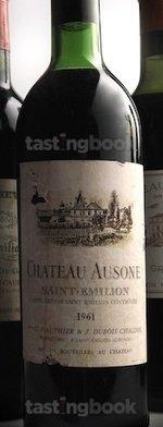 Red wine, Château Ausone 1961
