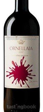 Red wine, Ornellaia 2012