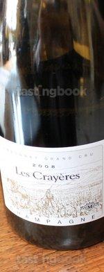 Sparkling wine, Les Crayères 2008