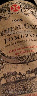 Red wine, Château Gazin 1962