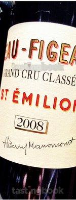 Red wine, Château de Figeac 2008