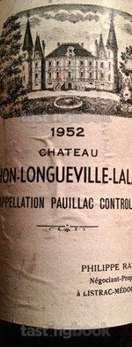 Red wine, Château Pichon Longueville Comtesse de Lalande 1952