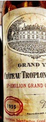 Red wine, Château Troplong-Mondot 1955