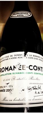 Red wine, Romanée Conti 2000
