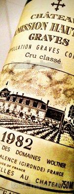 Red wine, La Mission Haut Brion 1982