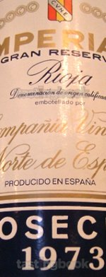 Red wine, Imperial Gran Reserva 1973