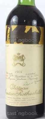 Red wine, Château Mouton-Rothschild 1974