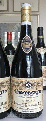 Red wine, Chambertin 2008