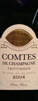 Sparkling wine, Comtes de Champagne 2004