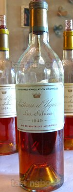 Sweet wine, d'Yquem 1949