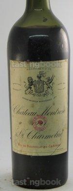 Red wine, Montrose 1921